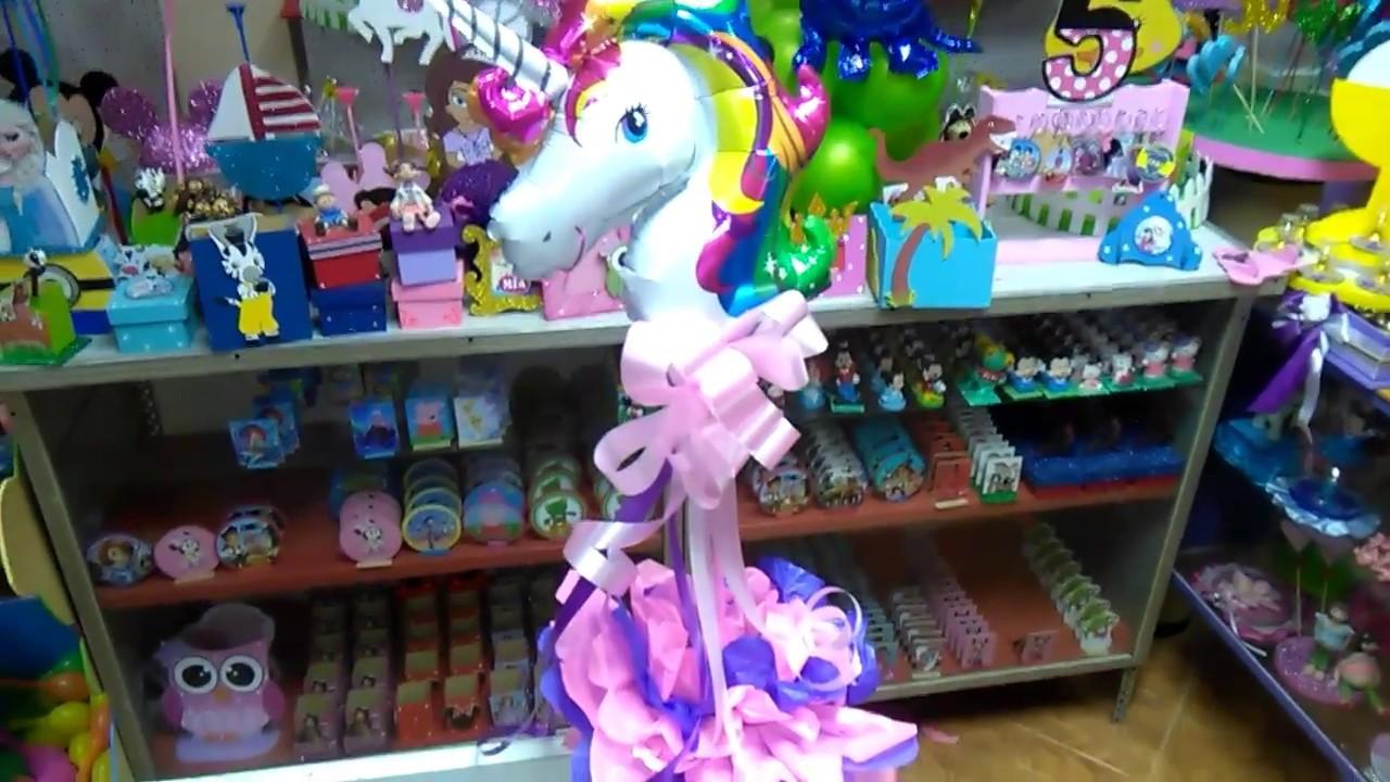 Centro de mesa unicornio f cil de hacer youtube for Hacer mesa de centro facil