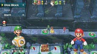 Super Mario Party Partner Party #26 Domino Ruins Treasure Hunt Luigi & Mario vs Monty Mole & Yoshi