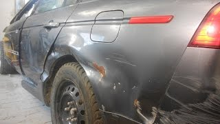 кузовной ремонт. крыло и дверь Acura TL часть1(ремонт крыла и двери споттером. подготовка к покраске. музыка DJ Грув JOIN VSP GROUP PARTNER PROGRAM: https://youpartnerwsp.com/ru/join?839..., 2014-11-14T08:12:30.000Z)