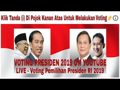 Voting Pilpres 2019 | Voting Capres 2019 | Voting Presiden 2019 Terbaru - Jokowi Vs Prabowo