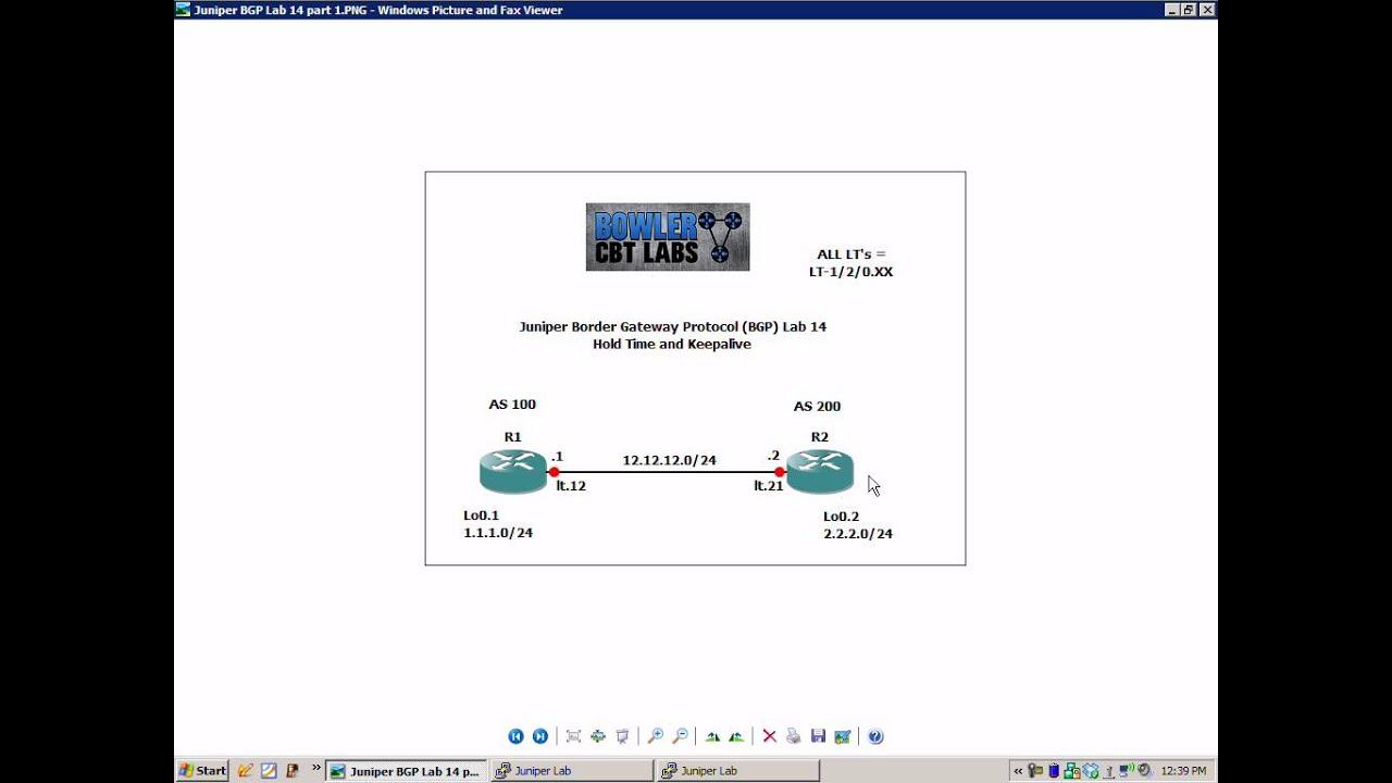 Juniper BGP Lab 14 Hold time and Keepalives