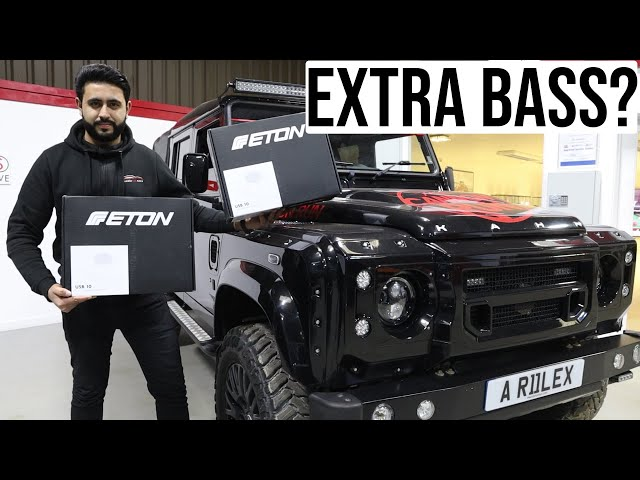 Want More Bass In Your Defender? | Dual Eton Subwoofers | Cannon Run