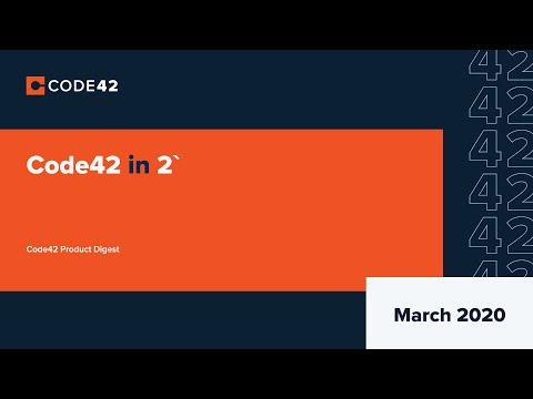 March 2020: Code42 in 2'