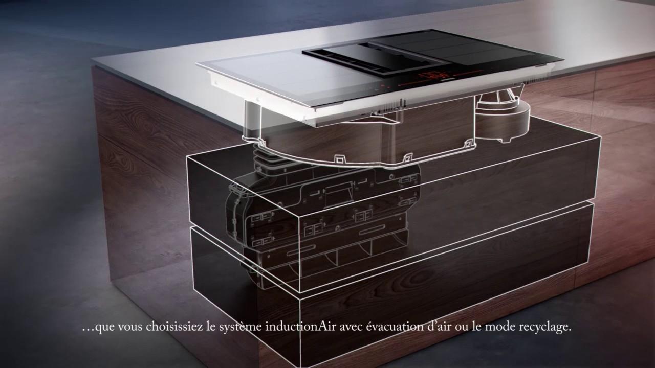 table de cuisson avec ventilation integree siemens inductionair