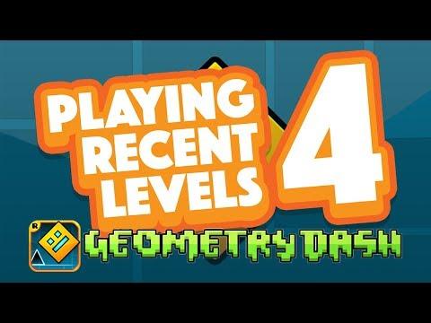 PLAYING RECENT LEVELS 4 | Geometry Dash Juniper