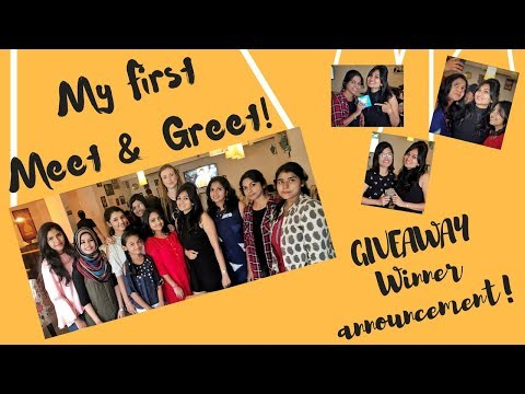 My First Meet & Greet | Giveaway winner announcement | Bangalore youtuber | Bangalore shopping