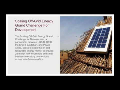 Scaling Off-grid Energy Grand Challenge for Development: New Partnership Opportunity