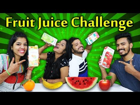 FRUIT JUICE CHALLENGE | TWISTED JUICE DRINKING CHALLENGE
