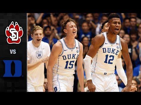 South Dakota vs. Duke Basketball Highlights (2017-18)