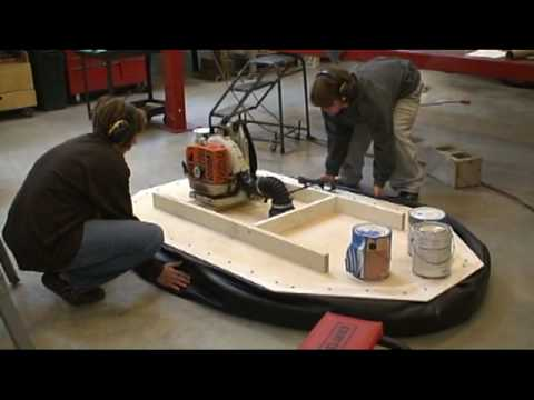 how to cut a hovercraft skirt