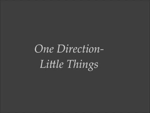 One Direction- Little Things lyrics