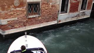 8 meter water taxi maneuver venice
