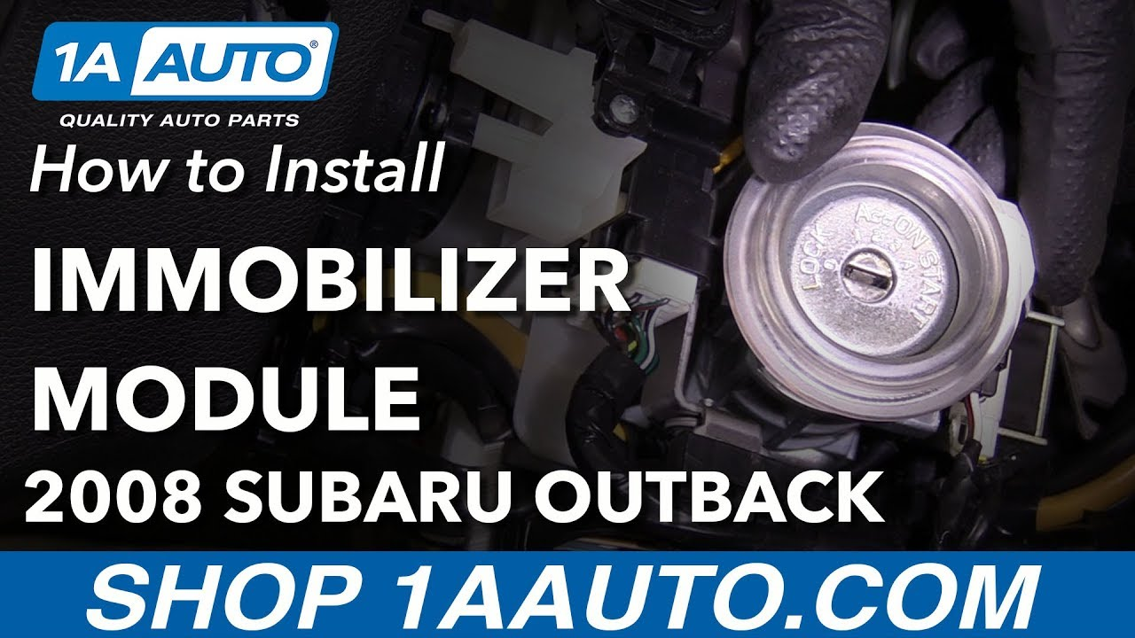 How to Replace Immobilizer Antenna Module 04-09 Subaru Outback