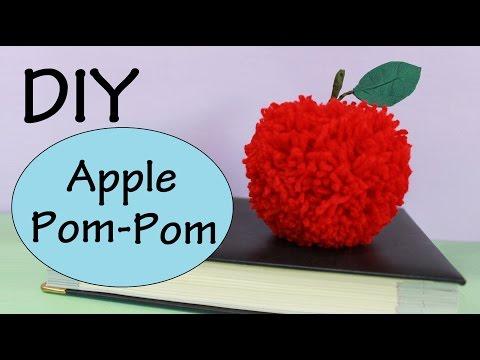 DIY Apple Pom-Pom   Autumn/Fall Room Decor