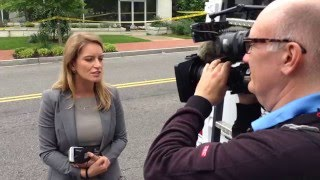 Katy Tur reporting at Trump/McConnell NRSC meeting.