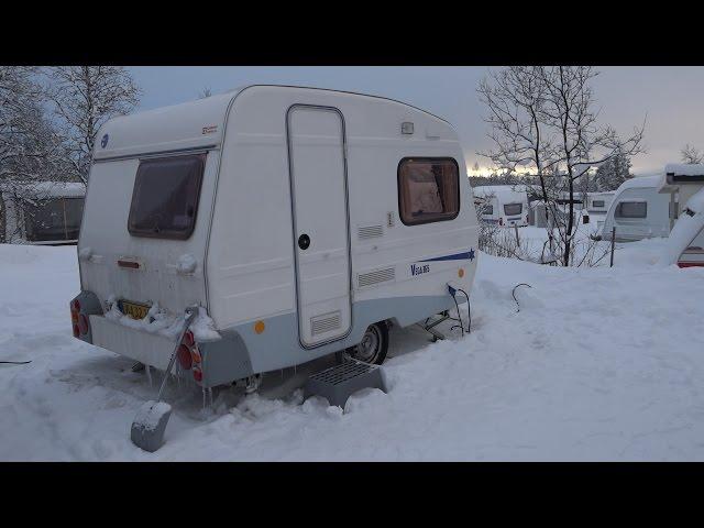 Vintertesten - Vega 365 (Danmarks billigste campingvogn)