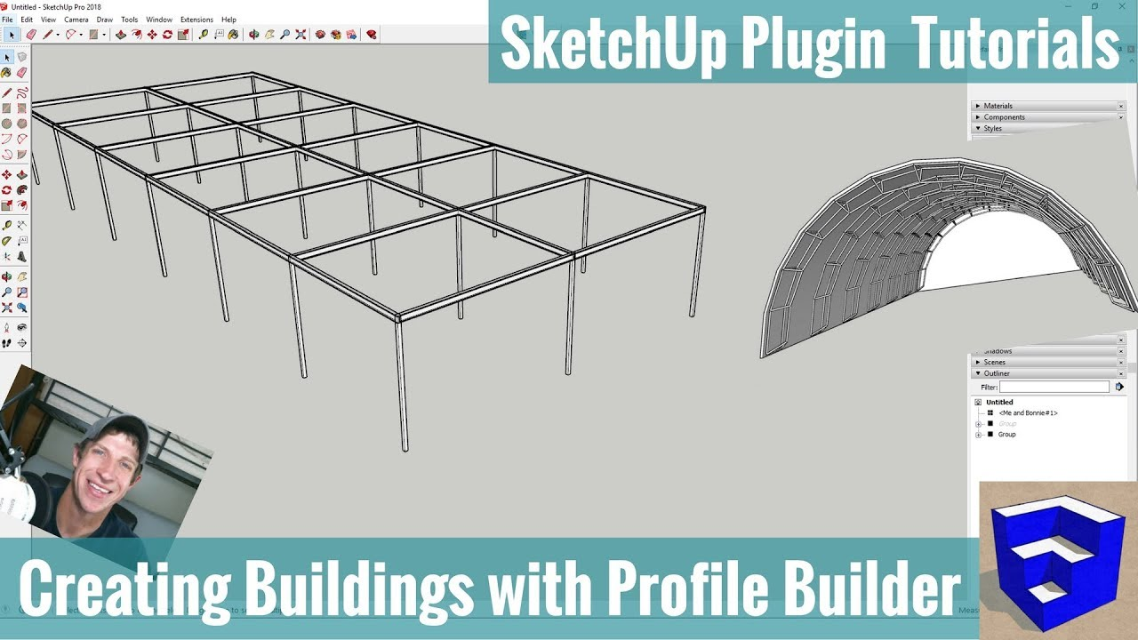 Creating Buildings in SketchUp with Profile Builder