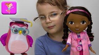 Доктор Плюшева лечит косоглазие сове мультфильм Диснея от Эваплей игра в доктора Doc McStuffins