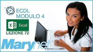 Corso ECDL - Modulo 4 Excel | 7.1.5 Come inserire campi nell'Intestazione e nel Piè di pagina. 1/2