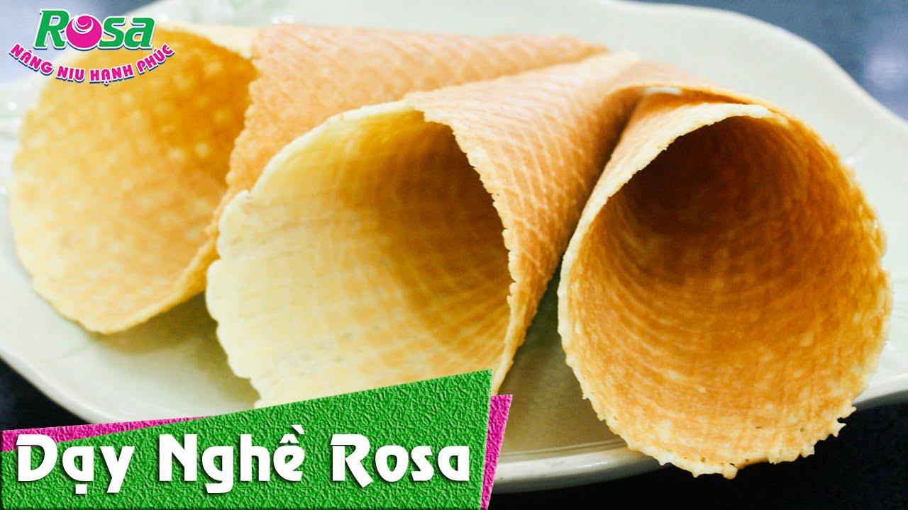 Máy Làm bánh Ốc Quế (Ice-Cream Cone) dễ dàng, nhanh gọn lẹ