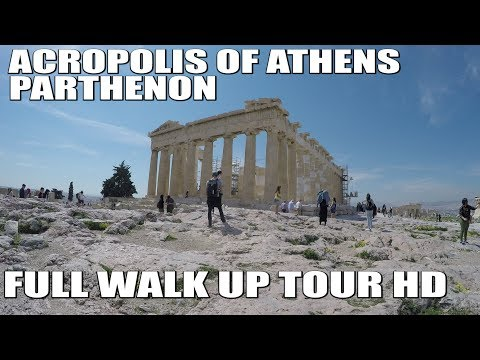 Parthenon (Acropolis of Athens) Full Walk Up Tour | Athens, Greece | Tourist Destination | Full HD