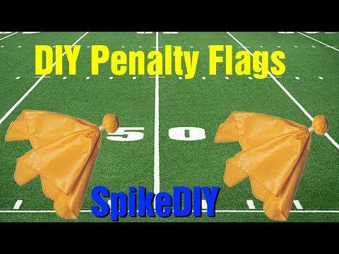 DIY Football Penalty Flag