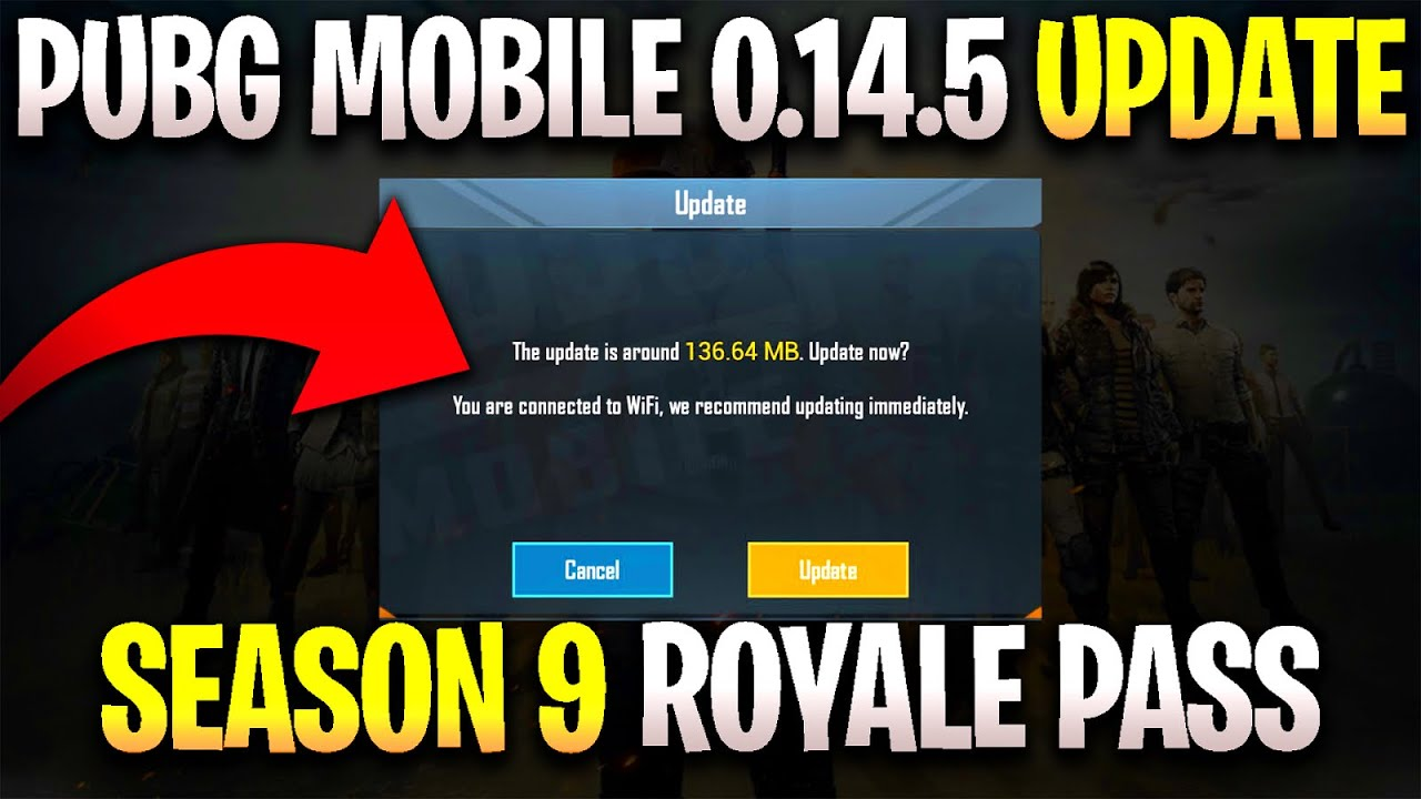 PUBG MOBILE 0.14.5 UPDATE IS HERE WHAT'S NEW ! SEASON 9 ROYALE PASS IS HERE