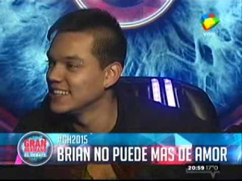 Gran Hermano 2015: Brian no puede más de amor por María Paz