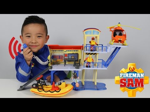 Download Youtube: HD Fireman Sam Ocean Rescue Centre Playset Toys Unboxing And Playing Fun With Ckn Toys