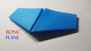 Very Easy Origami Bionic Paper Plane !How to make a Bionic Paper Plane!Paper Work -Origami