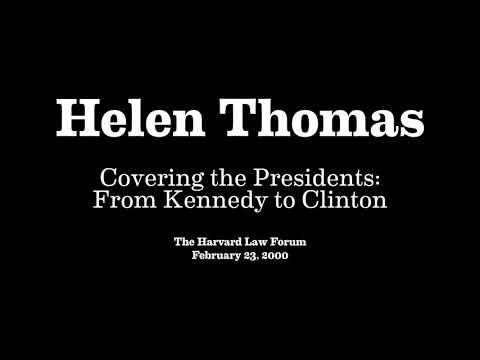 Helen Thomas at The Harvard Law Forum (2000)