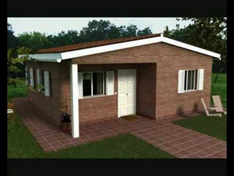 Casas baratas youtube for Modelos de casa para construccion
