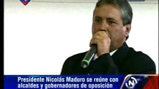 Julio César Rosales, alcalde de Bailadores, en el estado Mérida en reunión con Gobierno Nacional