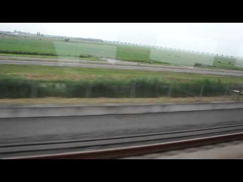 Train Rotterdam to Amsterdam Windmill in Netherlands Hi speed GVB