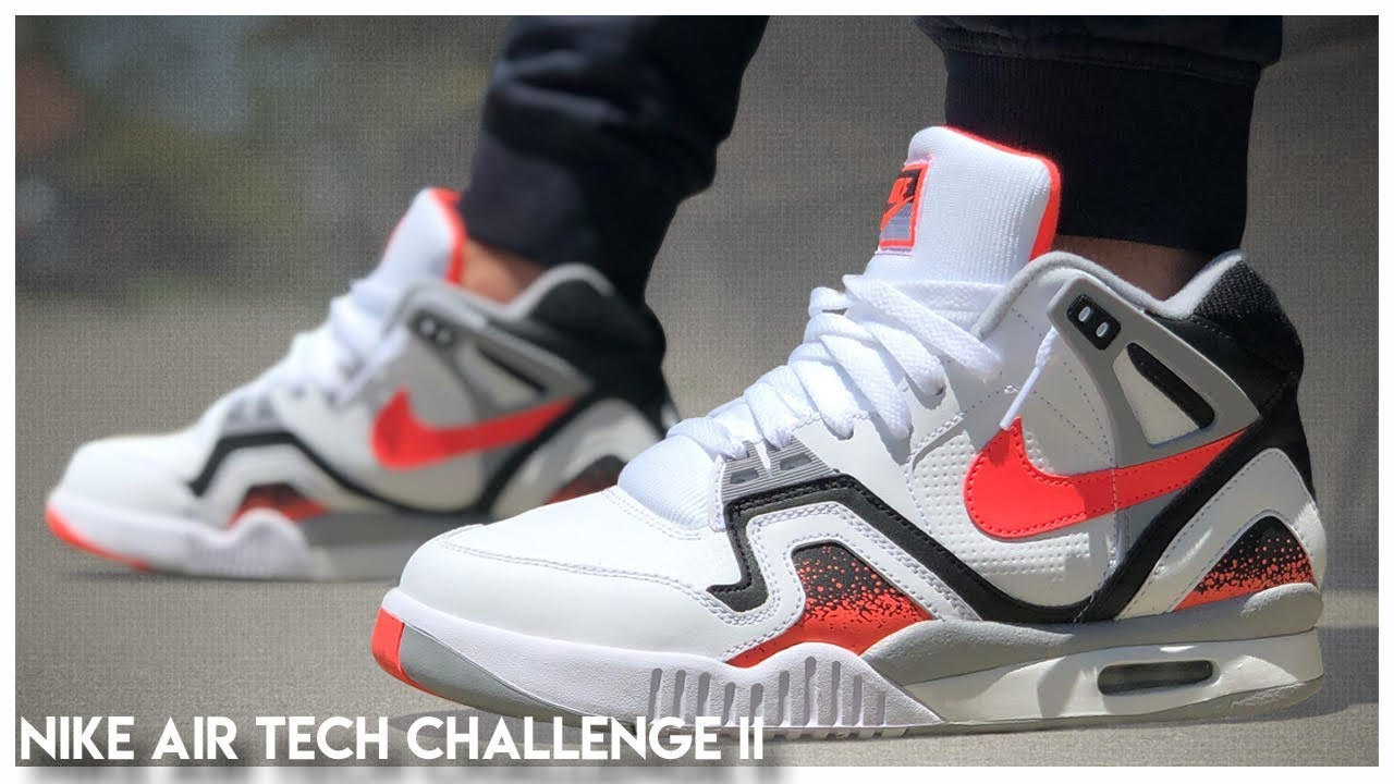 Noble rizo Importancia  Nike Air Tech Challenge 2 'Hot Lava' 2019 | Review - YouTube