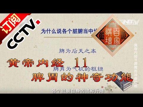 《百家讲坛》 20160418 黄帝内经 11 脾胃的神奇功能 | CCTV