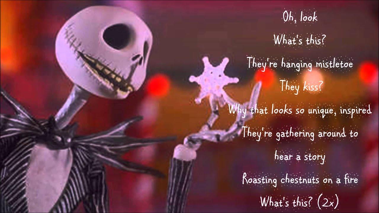 What\'s This? (w/ lyrics) From Disney\'s \