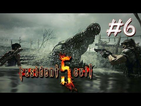 Resident Evil 5 co-op прохождение - Болото и крокодилы #6