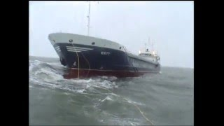 Padstow and Appledore RNLI lifeboats assists cargo ship in gale force winds
