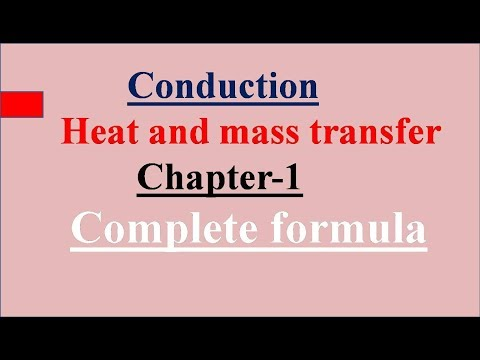 Conduction Complete Formula, Heat And Mass Transfer, HMT, Chapter-1, Unit-1,