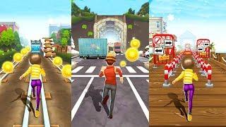 Subway Princess Runner Vs Subway Rush Runner #2 | Android Gameplay | Friction Games