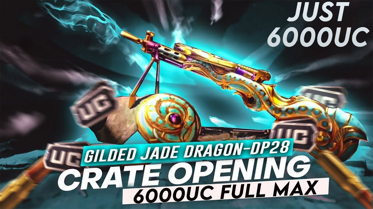 DP-28 GILDED JADE DRAGON Crate Opening & Maxing Out   Royal Pass Giveaway   🔥 PUBG MOBILE🔥