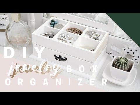 DIY jewelry BOX ORGANIZER