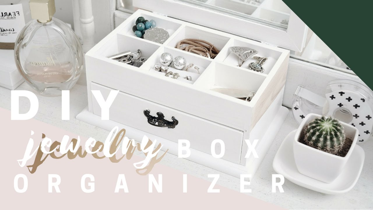 DIY jewelry BOX ORGANIZER YouTube