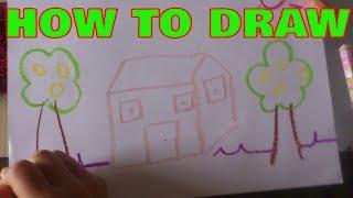 HOW TO DRAW MY BEAUTYFUL HOUSE   CÙNG BÉ VẼ NGÔI NHÀ XINH SẮN   DRAW FUNNY
