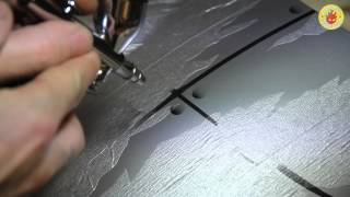 Airbrushing rivets and distressed metal