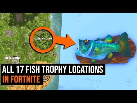 Where To Find ALL 17 Fish Trophy Locations In Fortnite