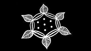 Easy Rangoli Design with 5X3 Dots | Kolam Designs | Muggulu Designs | Rangoli Designs | Kolam
