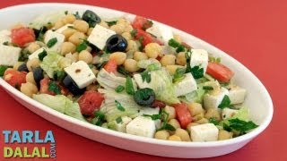 Chickpea And Paneer Salad  By Tarla Dalal