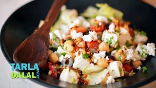 Chickpea and Paneer Salad  by Tarla Dalal